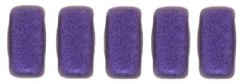 CzechMates 2-Hole Brick Beads, Purple Metallic Suede (10 gr.)