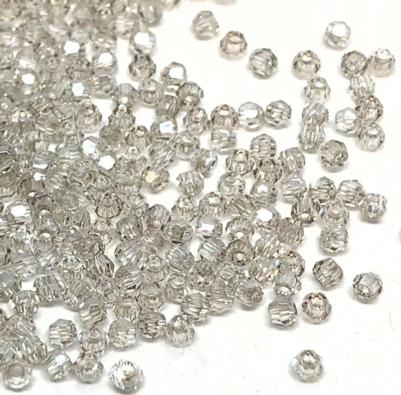 2mm Swarovski Rounds, Crystal Silver Shade (Qty: 50)