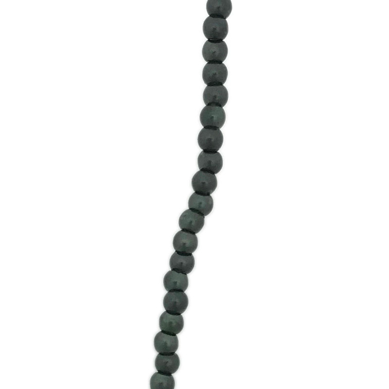2mm Czech Glass Pearls, Forest Green (Qty: 50)