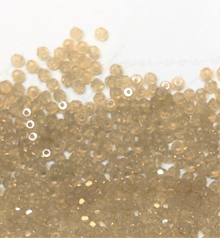 2mm Swarovski Rounds, Sand Opal (Qty: 50)