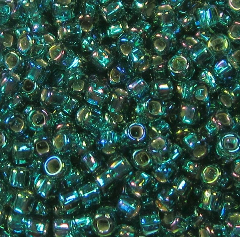 8-0643, Teal Silver-Lined AB (28 gr.)