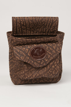 Cape Buffalo Hide Shotgun Shell Pouch Deluxe - Brown