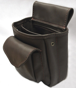 Leather Shotgun Shell Pouch Deluxe - Brown