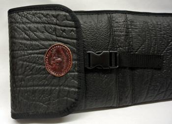 Cape Buffalo Hide Padded Shotgun Sleeve / Slip - Black