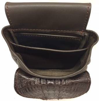 Leather Deluxe with Crocodile - Brown or Black