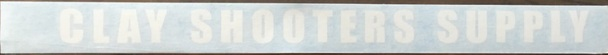 Clay Shooters Supply VINYL Gun Barrel Sticker (Pack of 5) - White