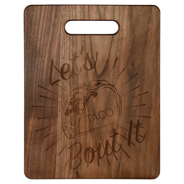 "Engraved Walnut Cutting Board 11.5"" x 8.75"""
