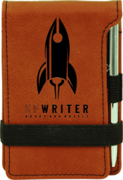Rawhide Leatherette Small Notepad with Custom Laser Engraving