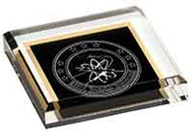 "Custom Engraved Black  Acrylic Paperweight (3.75"" x 3.75"")"
