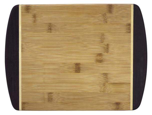 "Engraved Dark Two-Tone Bamboo Cutting Board 12"""