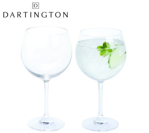 DARTINGTON CRYSTAL COPA GIN & TONIC SET OF 2 GLASSES IN A GIFT BOX PAIR