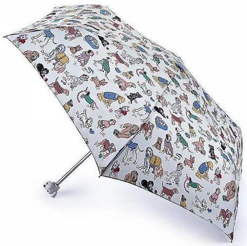 CATH KIDSTON DOGS MINILITE HANDBAG SIZE FOLDING UMBRELLA MATCHING COVER