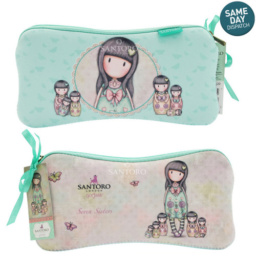 Gorjuss Seven Sisters Accessory or Pencil Case Full Length Zip Closer Santoro