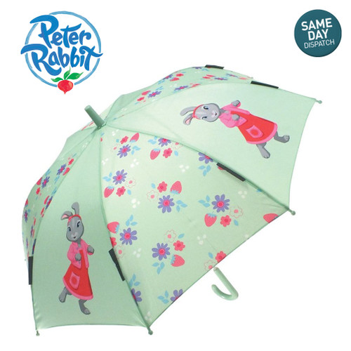 Peter Rabbit & Friends Lily Bobtail Adventurer Girls Mint Green Umbrella Beartrix Potter