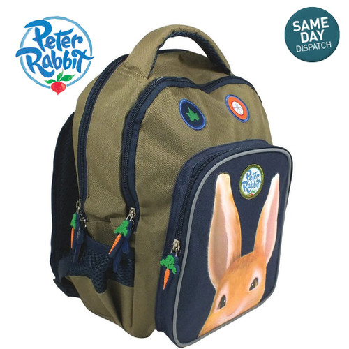 Peter Rabbit & Friends Backpack Khaki Rucksack Adventurer Beatrix Potter BBC