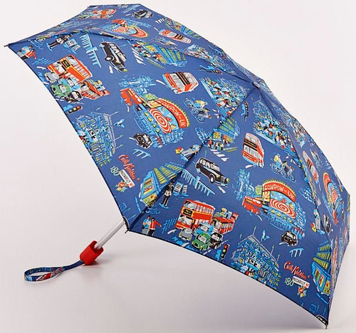 Cath Kidston Piccadilly Compact Handbag Size Folding Umbrella With Matching Case & Gift Box