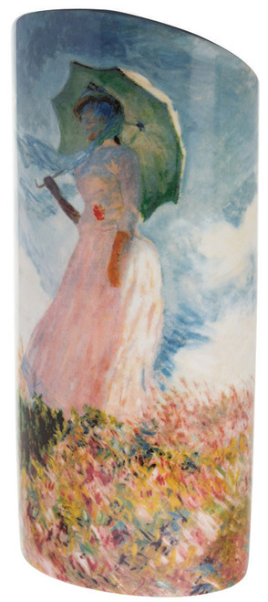 Monet Woman With Parasol Ceramic Art Vase Dartington Beswick Gift Boxed