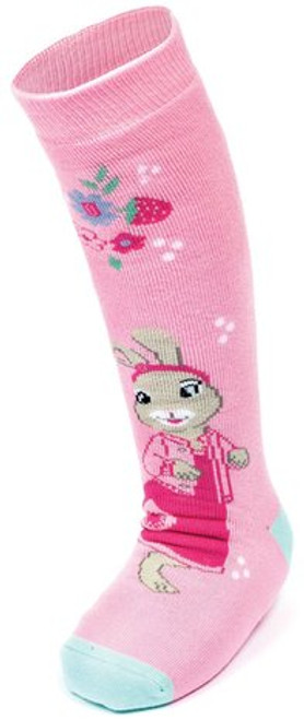 Peter Rabbit & Friends Lily Bobtail Pair Welly Boot Socks Pink Adventurer BBC