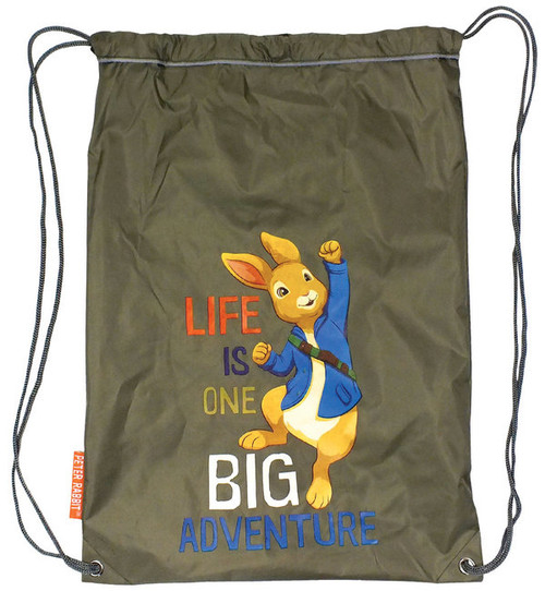 Peter Rabbit & Friends Khaki Waterproof Drawstring Boot Bag Adventurer BBC