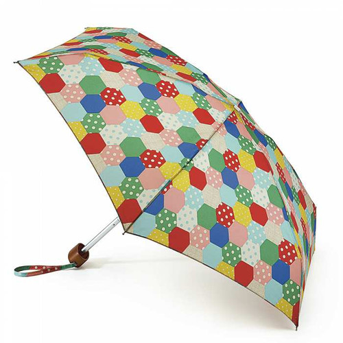Cath Kidston Patchwork Natural Tiny Folding Umbrella & Cover Handbag Size