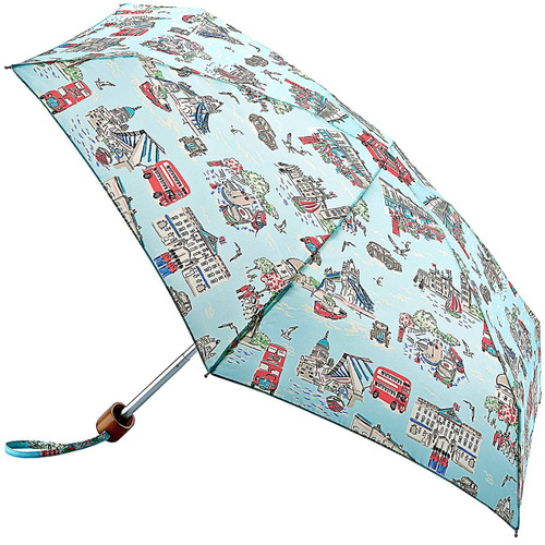 Cath Kidston London Town Tiny Folding Umbrella & Cover Handbag Size