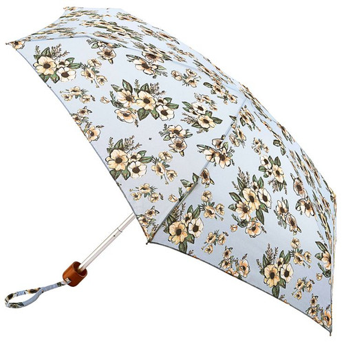 Fulton London Vintage Bouquet Flowers Tiny Folding Compact Umbrella And Matching Cover