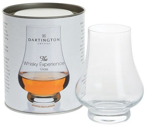 Dartington Crystal Whisky Experience Handmade Single Glass in A Gift Tin Tube