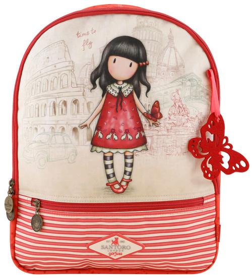 Gorjuss Time To Fly Cityscape Rucksack Back Pack Padded Straps Santoro