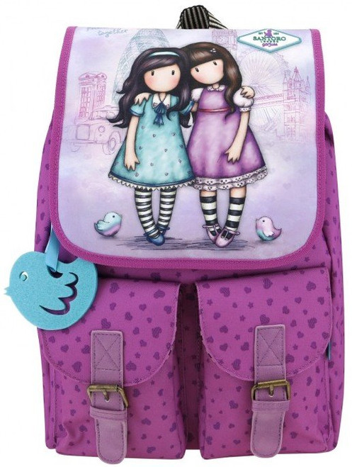 Gorjuss Cityscape Friends Walk Together Soft Rucksack Santoro