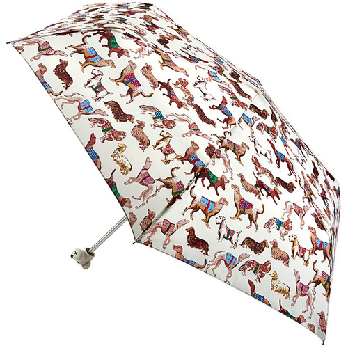 Cath Kidston Dogs Folding Umbrella Dog Head Minilite Handbag Size & Cover