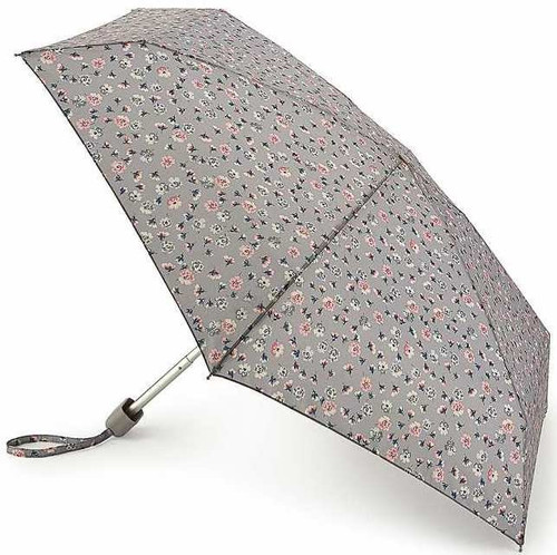 Cath Kidston Alpine Ditsy Stone Tiny Flat Handbag Size Folding Umbrella