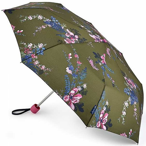 Joules Grape Leaf Harvest Compact Minilite Folding Handbag Size Umbrella