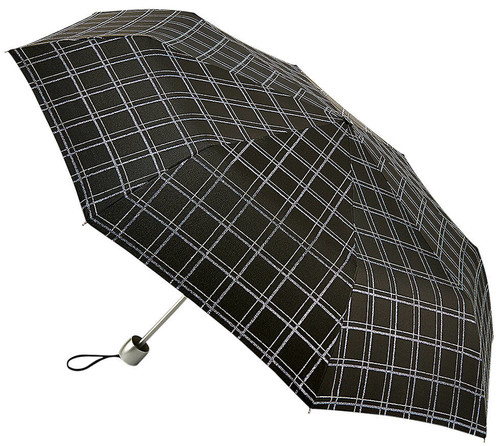Fulton Sparkle Check Folding Umbrella Minilite Compact Handbag Size Cover