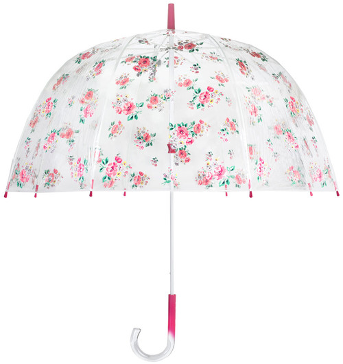 Cath Kidston Grove Bunch Birdcage Clear Dome Shape Ladies Walking Umbrella