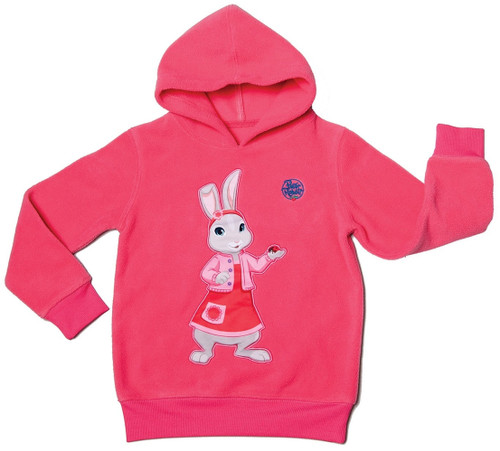 Peter Rabbit & Friends Lily Bobtail Pink Hoodie Warm Polyester Fleece BBC Age 4