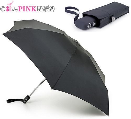 FULTON MENS AUTOMATIC OPEN & CLOSE 101 BLACK FOLDING UMBRELLA 23x8 cms CLOSED