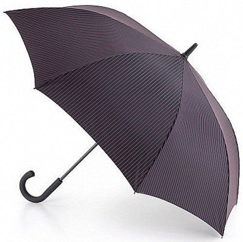 FULTON KNIGHTSBRIDGE CITY STRIPE BLACK STEEL AUTOMATIC OPEN WALKING UMBRELLA