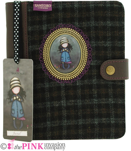 GORJUSS TOADSTOOLS CAMEO JOURNAL NOTEBOOK TWEED COVER BOOK SANTORO