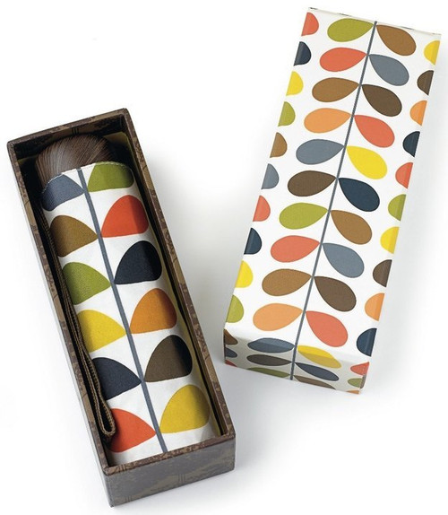 ORLA KIELY DESIGNER MULTI STEM FOLDING HANDBAG UMBRELLA + GIFT BOX