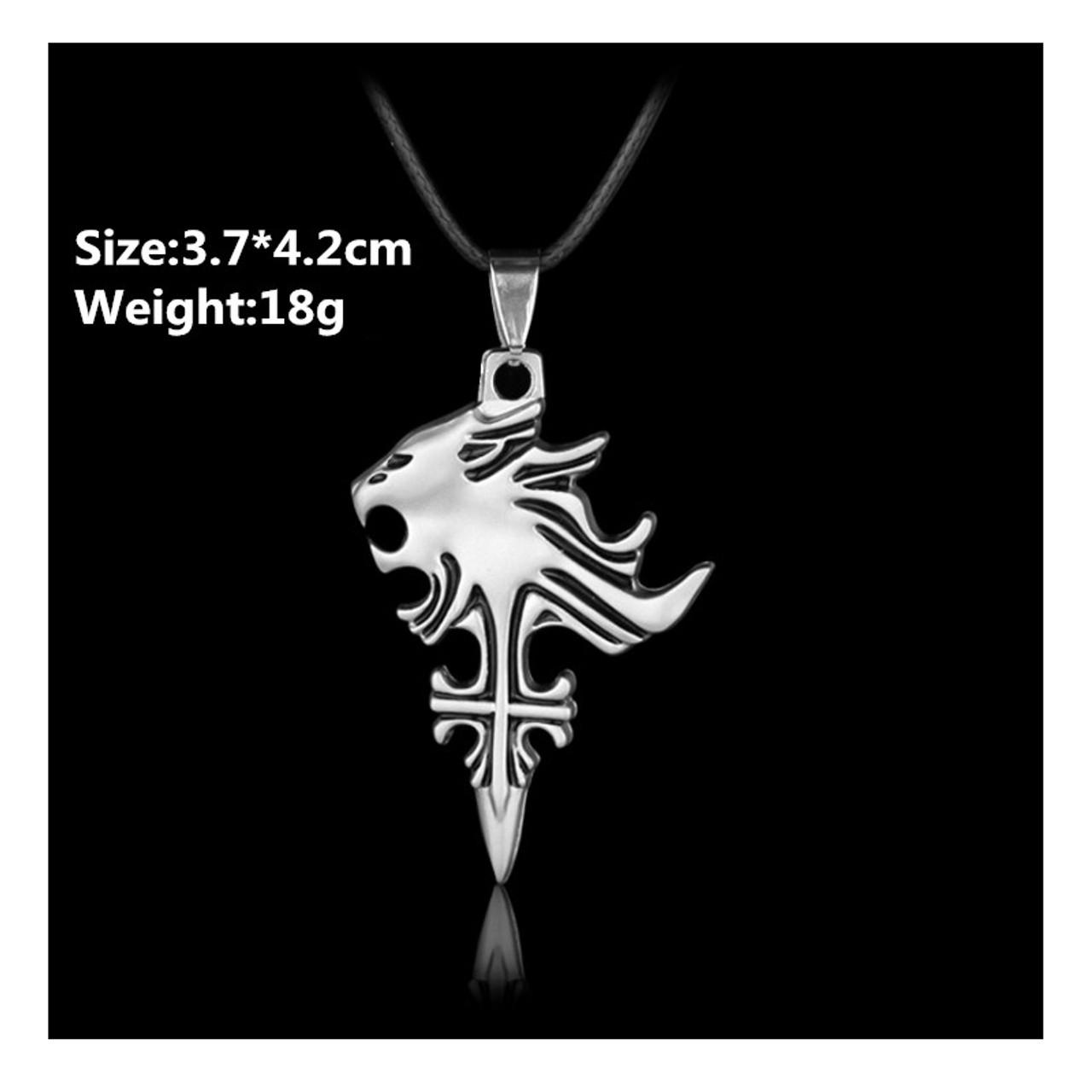 Final fantasy cloud buster strife wolf emblem pendant charm necklace final fantasy cloud buster strife wolf emblem pendant charm necklace cosplay bk mozeypictures Images