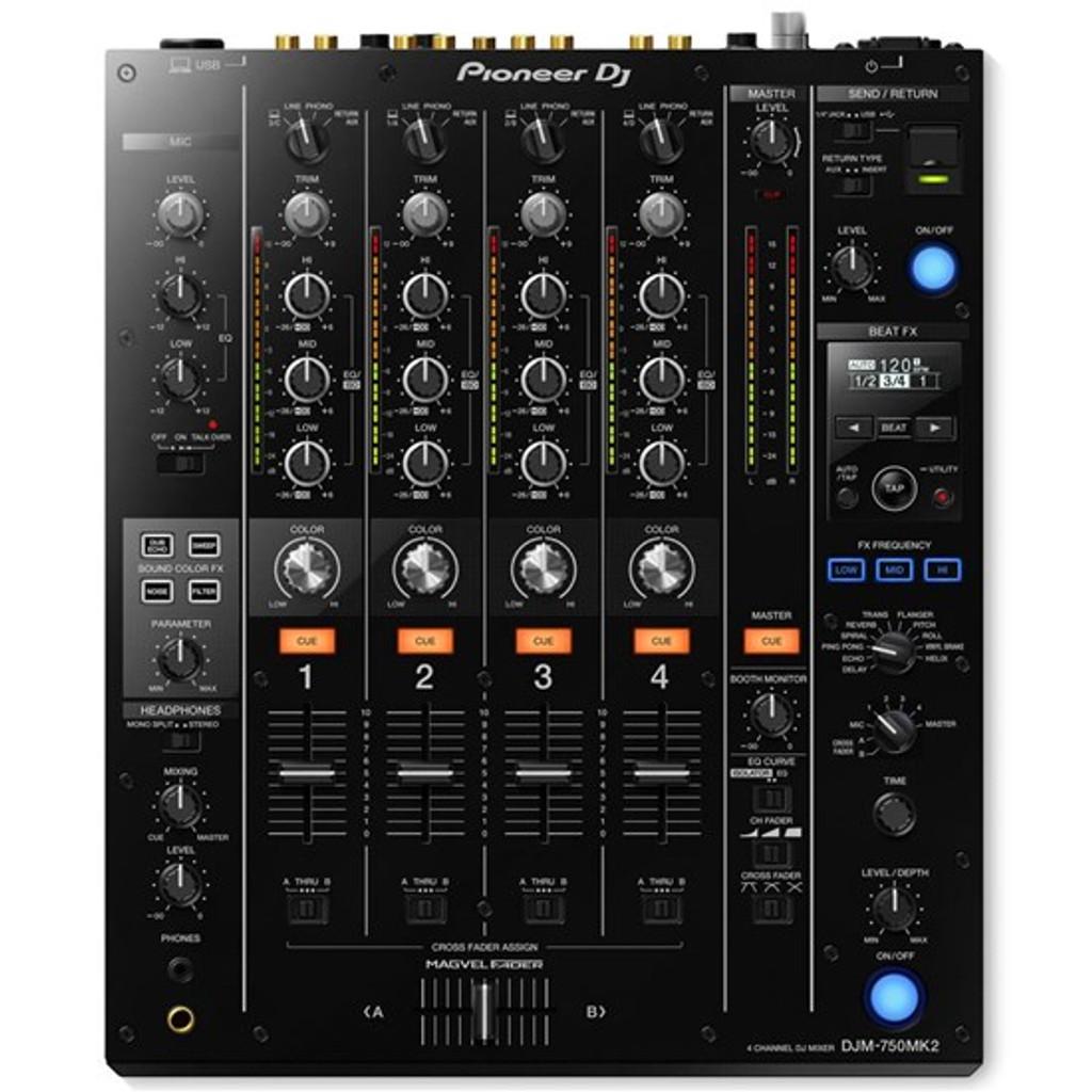Pioneer DJM750MK2 4-Channel DJ Mixer w/ Club DNA (Black)