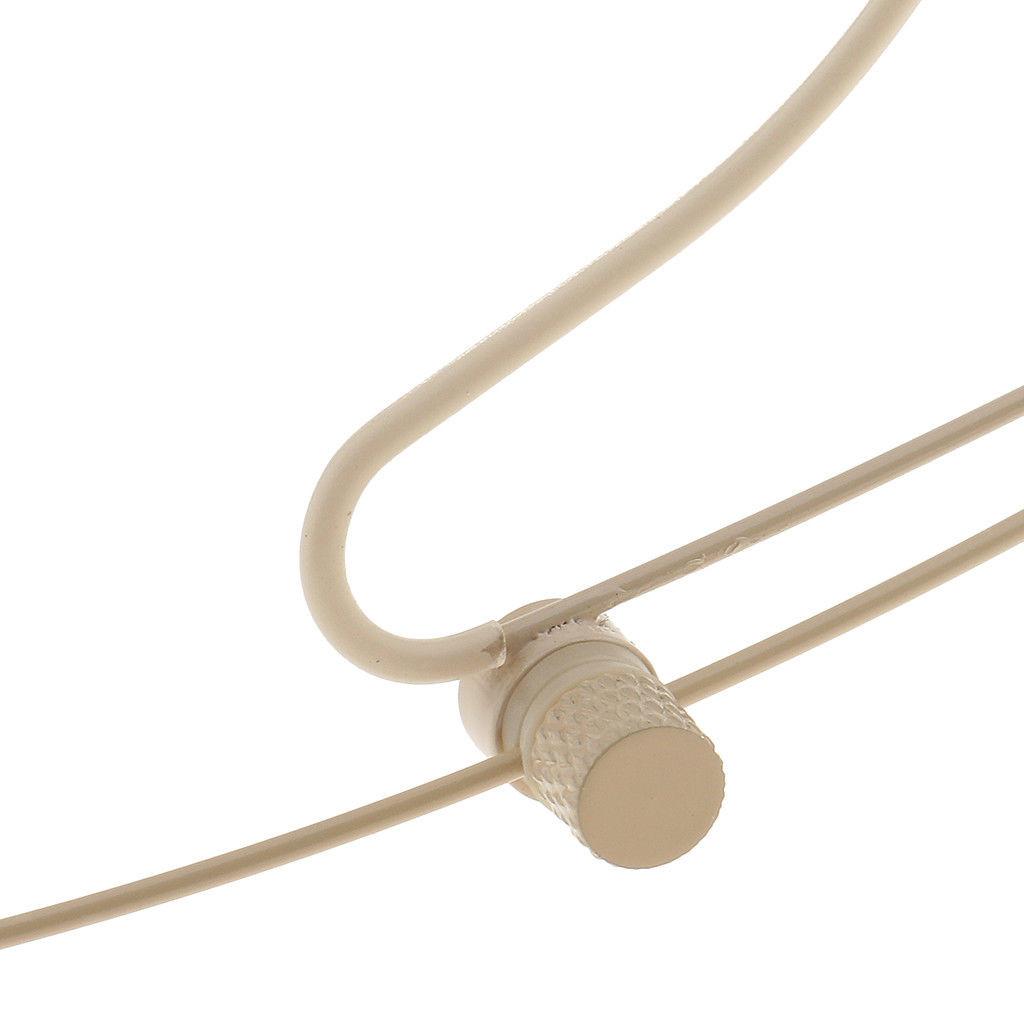 MOS Headset Microphone Beige Double Earhook 3Pin Mini XLR Transmitter