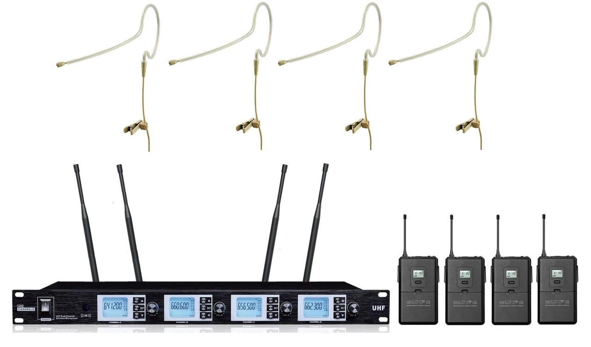 Bol Mic Pro Uhf Pr A4200sb 4 X 100 Channel Single Earhook