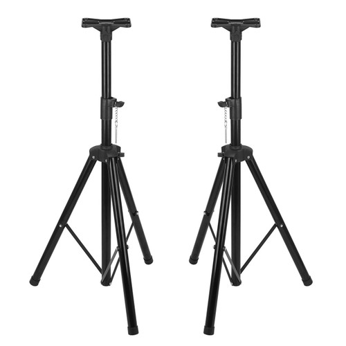 Speaker Stand Tripod Mount Music Adjustable PA Stage DJ Home Heavy Duty Pair