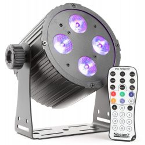 Beamz BAC404 Hex Colour LED Par Can Black