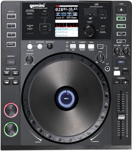Gemini CDJ-700 DJ CD Digital Media Player and Midi Controller