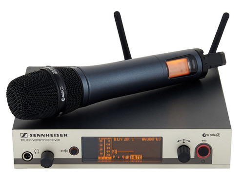 sennheiser ew 345 g3 wireless super cardioid handheld microphone system music on stage. Black Bedroom Furniture Sets. Home Design Ideas