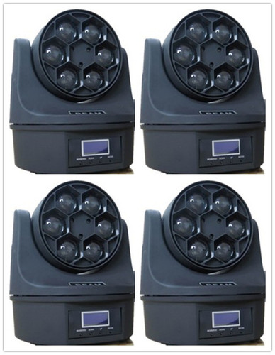 Hawkeye Bee Eye Light Led Beam Moving Head 6 x 15 Watt Lights RGBW Mini