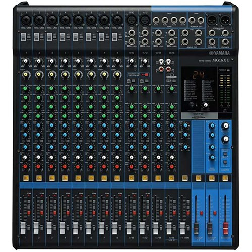 Yamaha MG16XU 16 Input Mixer w FX & USB Audio Interface