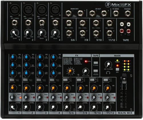 Mackie MIX12FX PA Mixer with FX 12 Channel